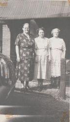 Mary (Baughman) Kooker, Alda Grove, and Nettie Conroy