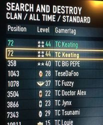 TC XB1 Clan Leaderboards (Day1 Launch)