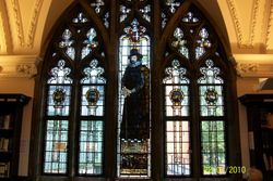 Francis Bacon window, Ipswich Library