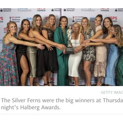 The Silverferns awarded the team of the year for the Halberg awards