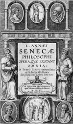 Rubens, title page to Justusa Lipsius, Life and Thought of Seneca, Antwerp, 1605