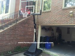 amazon portable basketball hoop assembly service in potomac MD