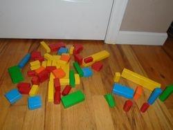 Wooden Building Blocks- Quantity 53 - $20