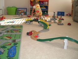 Emma in the playroom