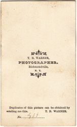 Joseph Even, photographer of Morris, Illinois - back
