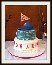 Red Sox Baseball Cake!