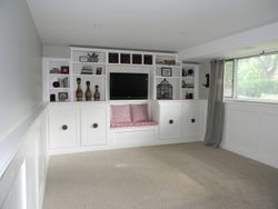 BASEMENT WITH CUSTOM BUILT-INS