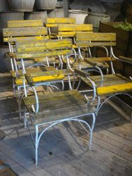 #14/069 Set of 6 Metal Garden Chairs SOLD