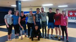 2015 - practice over Christmas with current wrestlers and alumni at Evolution MMA (Gatineau, QC)