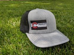 Offset Flag Hat (Heather Gray/Black