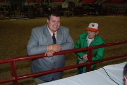 Junior Judge Jeremy Armstrong with EZ
