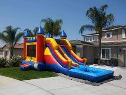 Mega Combo Jumper with double slide , pool, basketball hoop