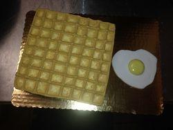 Waffle & Egg Cake