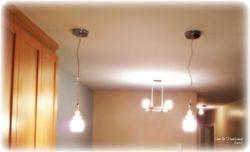 Kitchen & dining room lighting installation