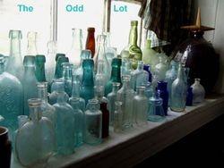 One of my windowsills in my bottle room