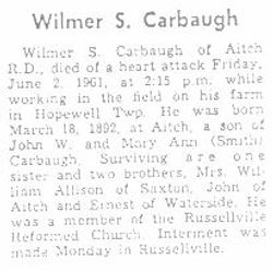 Carbaugh, Wilmer S. 1961