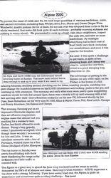 2000 Alpine Rally Notes by Rob Lovett