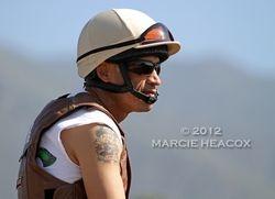 Jockey David Flores at Workouts