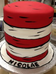 The Cat in The Hat...HAT cake