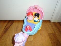 Fisher Price Little People Disney Princess: Ariel's Coach - $11