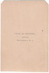 Chas. B. Higgins, photographer of Frenchtown, NJ - back