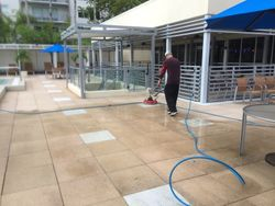 Commercial pressure cleaning.