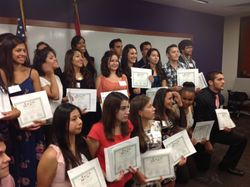 All the Scholarship Recipients at the Hispanic Scholarship Alliance Award Ceremony, a joint ceremony for all the Hispanic Association Scholarships in St. Louis