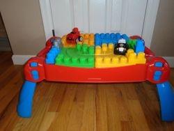 MegaBloks Play N Go Table with Blocks and Cars - $25