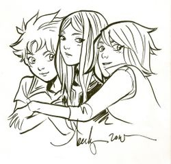 HiME Trio by Becky Cloonan
