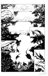 Nightglimmers page.1 inks