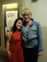 After the Rossini Mass concert with my mentor Sylvia McNair