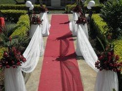Red carpet wedding