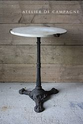 #29/147 FRENCH BISTRO TABLE MARBLE TOP