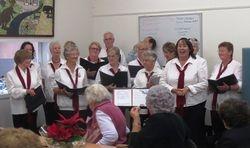 The choir singing carols