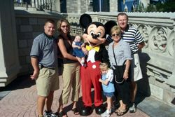 Mickey Mouse and family.