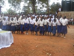 The Primary School Choir performs