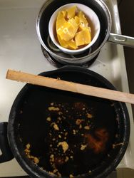 Melting wax