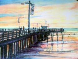Pismo Pier Yellow Sky