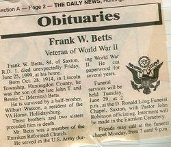 Betts, Frank W. 1999