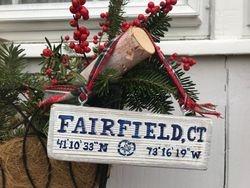 Mini Town Name wooden ornament