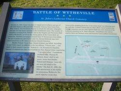 Battle of Wytheville - St. John's Lutheran Church Cemetry