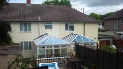 3.5 x 4 Edwardian Active Blue roof