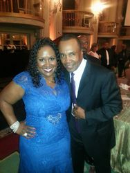 Jamescia with Humanitasrian Award Recipient Sugar Ray Leonard