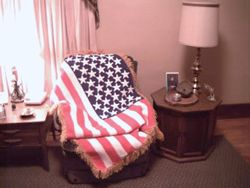 American Flag Afghan - View 1