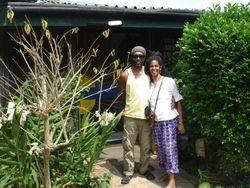 Kweku and Harriet at home