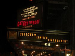 Cat on a Hot Tin Roof Marquee
