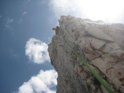 Climbing Delago Tower