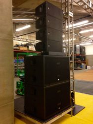 RCF cabinets, and subs stacked