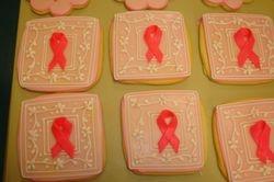 Jumbo pink ribbon cookies $6 each