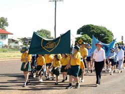 Wyandra School Kids on The Anzac Day Parade